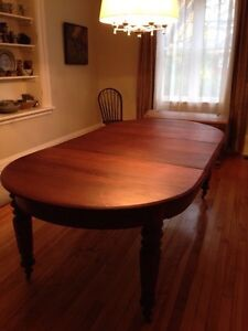 Beautiful Huge 1870s Antique Solid Walnut Dining Table