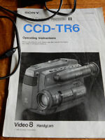 SONY CCD-TR6 OPERATING INSTRUCTION BOOKLET