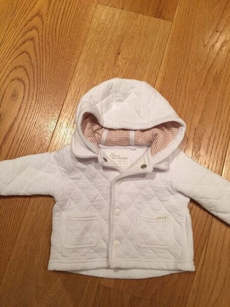 Next 0-3 M quilted baby jacket