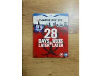 28 Days Later / 28 Weeks Later blu ray boxset. Zombie films finest set.