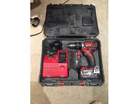 Milwaukee 18v Combi drill with 2 batteries and charger.