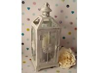 Gorgeous Metal Lantern with Silver glittered Candle