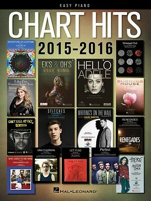 Chart Hits of 2015-2016 Sheet Music Easy Piano SongBook NEW 000156299