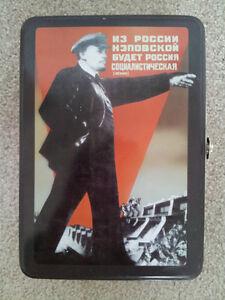 Russian Themed Tin Lunchbox / Lenin, Trotsky, Marx London Ontario image 1