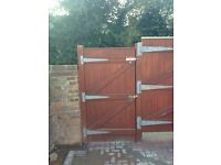Large wooden gates with all fixings