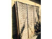 5- 6x6 fence panels