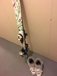 Ski boots & skis