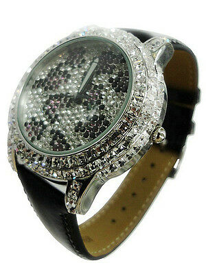 Women Luxury Sparkling Crystal Diamond Leopard Print Watches for sale  Shipping to India