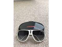White Carrera Safari Sunglasses