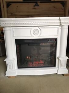Twin star fireplace and mantle package