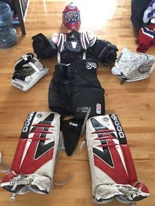 Equipement hockey gardien de but