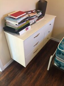 Dresser and single bed - $125