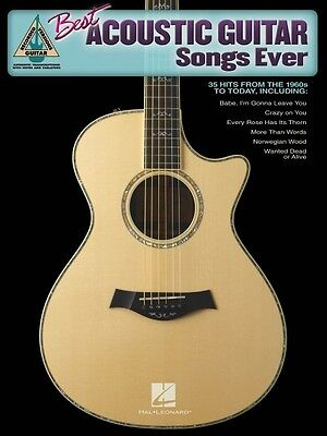 Best Acoustic Guitar Songs Ever Sheet Music Guitar Tablature Book NEW (Best Guitar Music Ever)