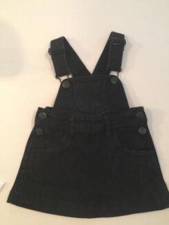 Black denim skirt jumper (size 1)