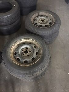 195/70/15 winters tires and rims off. VW