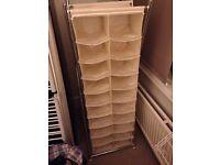 Free standing shoe storage unit.