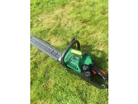 Chainsaw 2 stroke as new condition only used once has blade cover also have Honda Mower Lawnmower