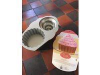 Giant cupcake baking tin