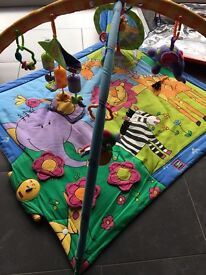 Tiny love play gym with wind chimes