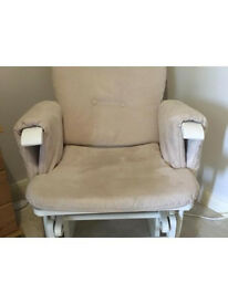 Nursing/ rocking chair with footstool