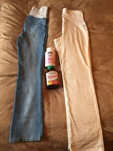 Maternity clothes and vitamins