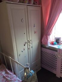 Next single bed frame and wardrobe