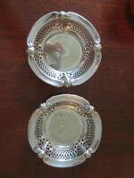Two silver small candy dishes EPNS