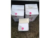 5x BOX OF 50 WALL TILES AND 5kg BAG OF GROUT