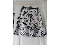 M&S Black & White Skirt
