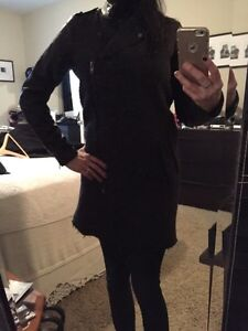 Women's wool coat with faux leather sleeves Cambridge Kitchener Area image 4