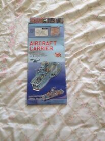 3D MODEL AIRCRAFT CARRIER & 9 PLANES CRAFT KIT - UNUSED IN PACKET.