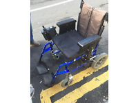 WHEELCHAIR FOR SPARES OR REPAIR WAS ELECTRIC CAN BE USED AS JUST TRANSIT CHAIR