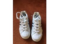 White and blue Clarks trainers size 4F