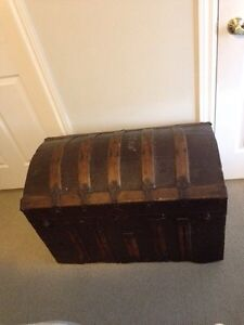 Antique Curved Top Trunk