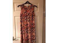 Size 12 Vero Moda orange print maxi dress