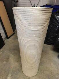 Cream Ceramic Textured Vase