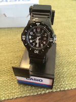 Casio Black Waterproof Watch Brand New with Stand.   See pictur