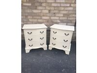 Vintage bedside cabinets pair of bedside tables chest of drawers