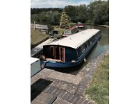 68 ft widebeam boat / house boat / narrow boat for sale, luxurious floating home.