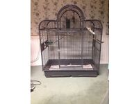 Large parrot cage and stand £55