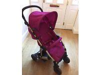 Mamas and Papas buggy/pram/stroller pink/purple