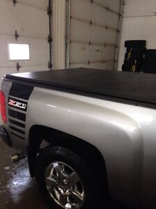 6.6 ft box cover trade for back rack or roll bar for Chevy truck