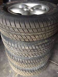 """Set of 16""""Speedline wheels 5x114.3pcd with near new tyres! East Victoria Park Victoria Park Area Preview"""