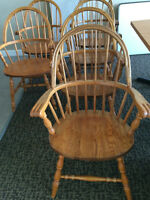 Solid Oak Captains Chairs