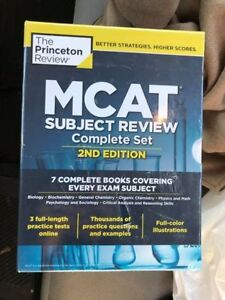 MCAT subject review set - Princeton Review - Unused/Brand New