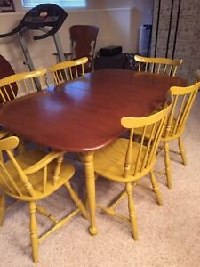 Dinning table with 6 chairs and buffet  Regina Regina Area image 1