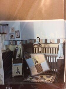 "Lambs and Ivy ""Jake"" crib set & accessories"