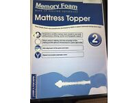 Memory Foam Mattress Topper Superking Size