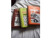 EXCELLENT CONDITION UNUSED HARDBACK 3 DIARY OF A WIMPY KID BOOKS