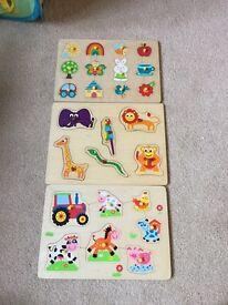 3 x baby puzzles